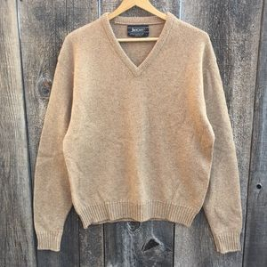 VTG 80s Jantzen Wool V-Neck Sweater, L